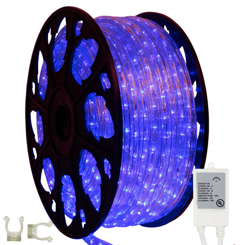 Led chasing rope light aqlighting 145 chasing led blue rope light kit 120v mozeypictures Choice Image