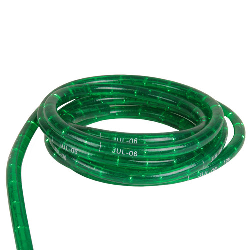 Custom cut 2 wire incandescent rope light 12v custom cut green incandescent rope light 3 feet aloadofball Choice Image
