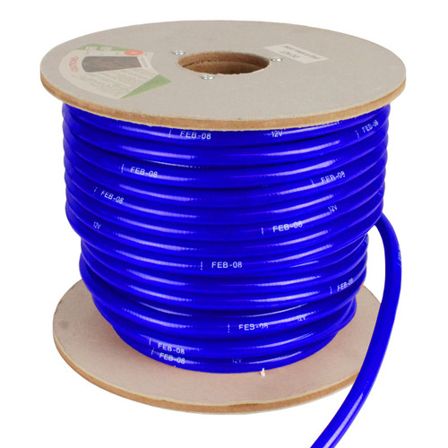 150' Blue Incandescent 2 Wire Rope Light Kit - 12V