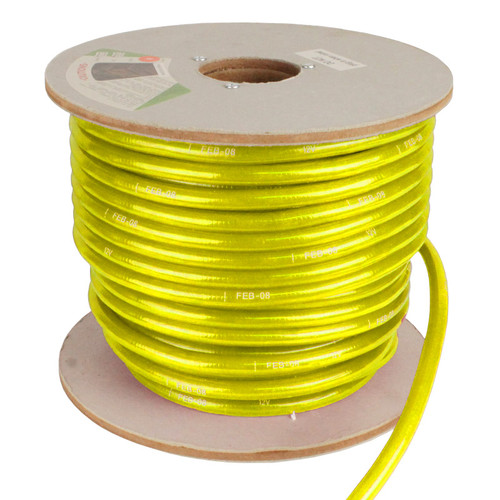 150' Yellow Incandescent 2 Wire Rope Light Kit - 12V