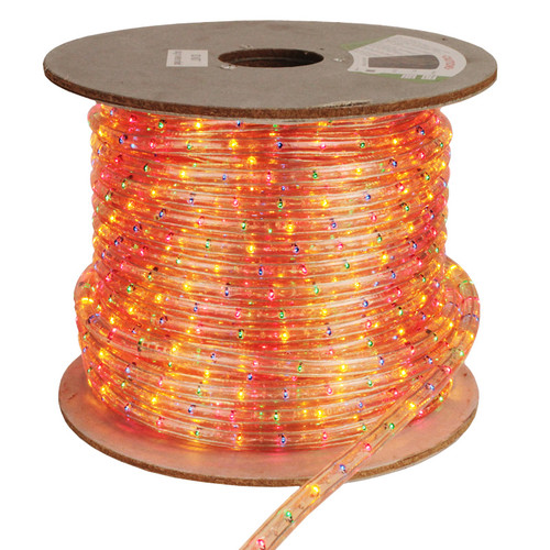 150' Multi-Colored Incandescent 2 Wire Rope Light Kit - Red/Green/Yellow/Blue - 12V