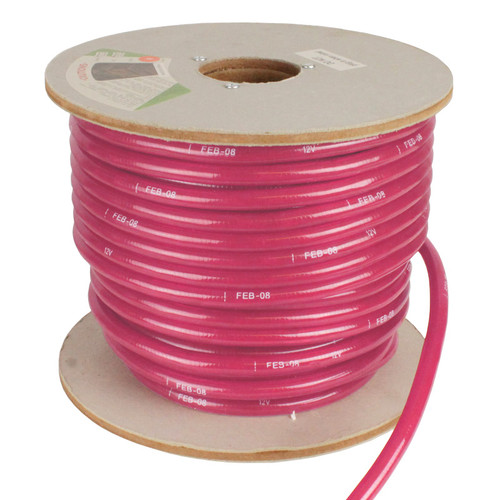 150' Pink Incandescent 2 Wire Rope Light Kit - 12V