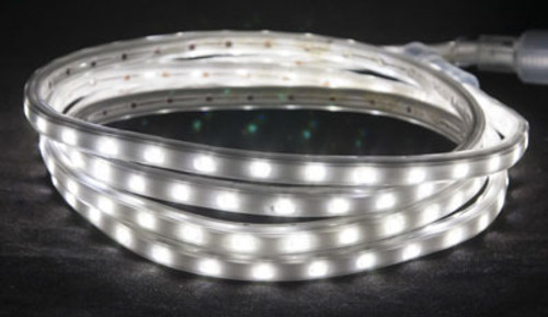 120V LED Cool White Custom Length Hybrid Tape/Rope Light - HYBRID 2