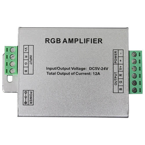 5V-24V LED RGB Tape Light Amplifier AQOL-AP-180-RGB