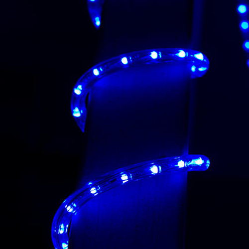 Dimmable blue led rope light indoor outdoor aqlighting 120v dimmable led blue type 513 rope light 150ft 513pro series aloadofball Image collections