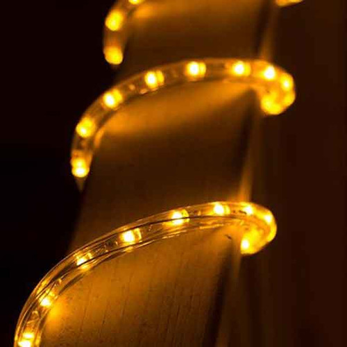 Dimmable led amber rope light 150ft spool aqlighting 120v dimmable led ip65 waterproof amber type 513 rope light 150ft aloadofball Choice Image