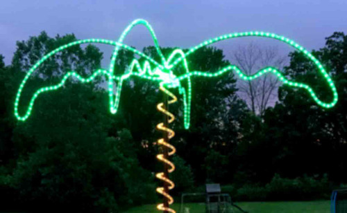 Green led rope light custom cut aqlighting 120v dimmable led ip65 waterproof green type 513 rope light 150ft mozeypictures Image collections
