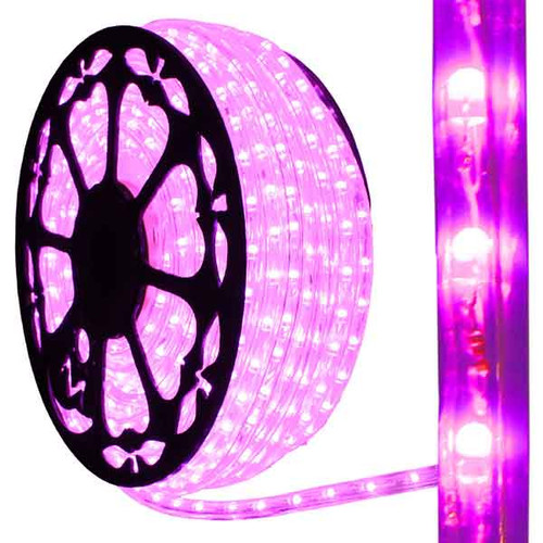 120V Dimmable LED IP65 Waterproof Pink Type 513 Rope Light - 150ft