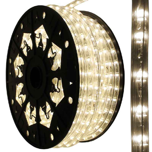 120V Dimmable LED IP65 Waterproof Moon White Type 513 Rope Light - 150ft
