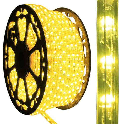 120V Dimmable LED IP65 Waterproof Yellow Type 513 Rope Light - 150ft