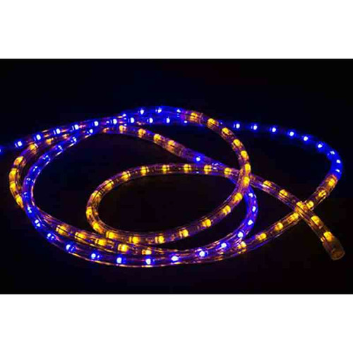 120V LED Type 513 Rope Light Sports Themed Package - Blue / Gold