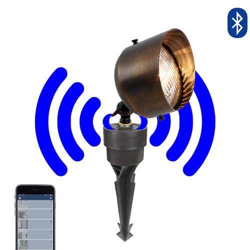 12V LED Bluetooth Brass Large Circular Landscape Floodlight - SMRTSCP112