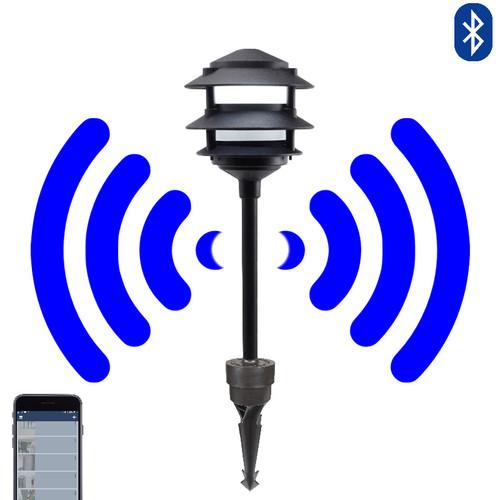 12V LED Bluetooth Cast Aluminum 3 Tier Pagoda Light - SMRTSCP-3R