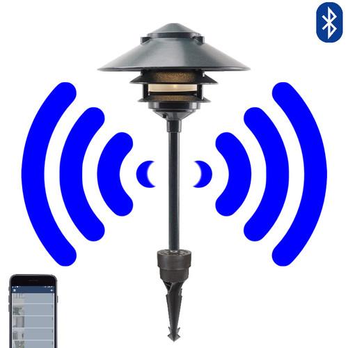 12V LED Bluetooth Large Top Cast Aluminum 3 Tier Pagoda Area Light - SMRTSCP-LT3R