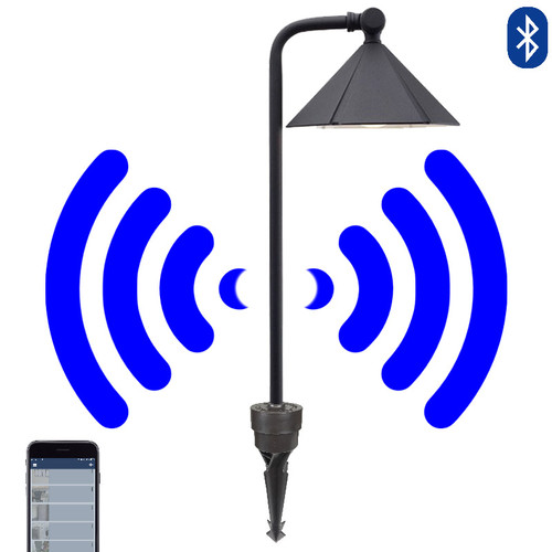 12V  LED Bluetooth Cast Brass Modified Bell Pathway Light - SMRTSCP030