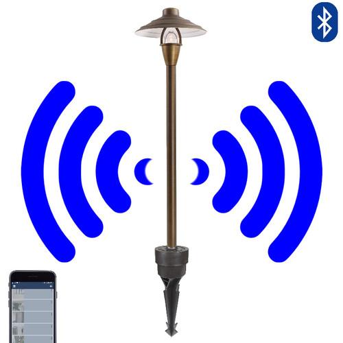 12V LED Bluetooth China Hat Cast Brass Area Light - SMRTSCP-SH037