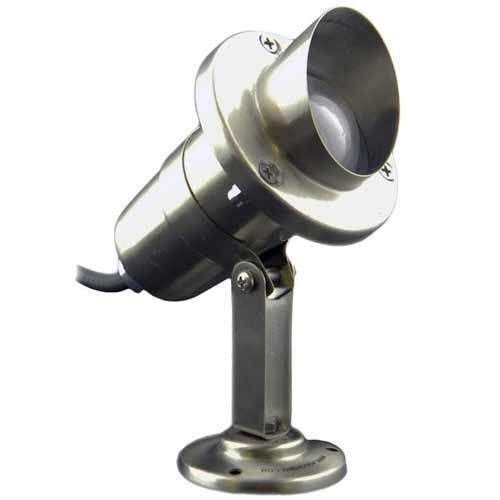 12V Stainless Steel Angle Shield Spotlight w/ Surface Base Mount - PSB-BSDX-900