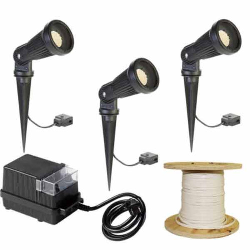 LED Landscape 3 Aluminum Spotlight Kit LED-3KIT-002