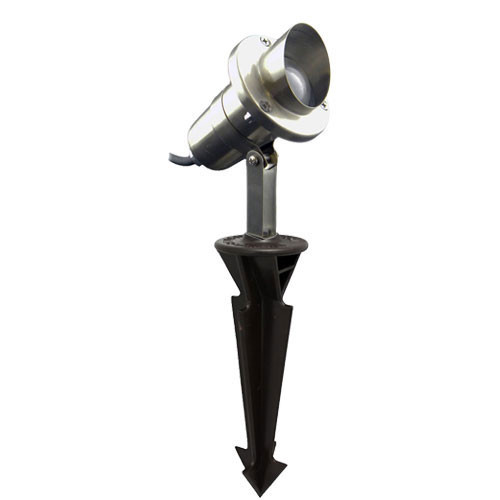 12V Stainless Steel Stake Mounted Spotlight w/ Angle Shield - PSS-SSDX-900