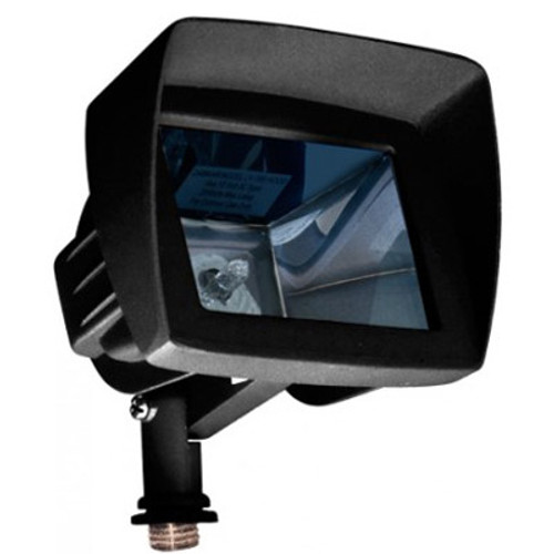 12V Cast Aluminum Directional Area Mini Flood Light w/ Angle Shield - LV105-HOOD - DABMAR