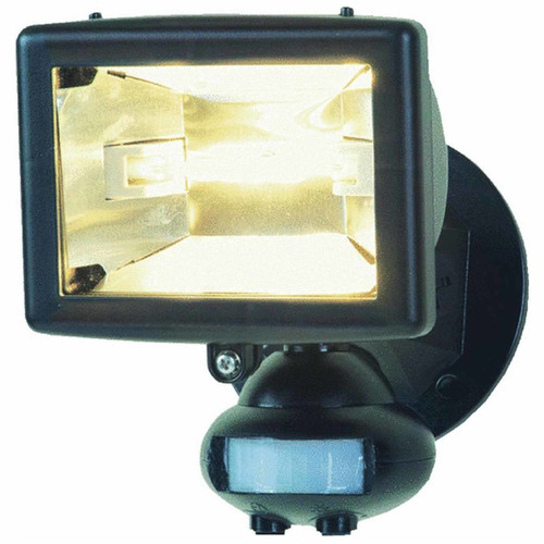 120V 110° 150W Quartz Halogen Motion-activated Security Floodlight - In Black - All-Pro - MS80