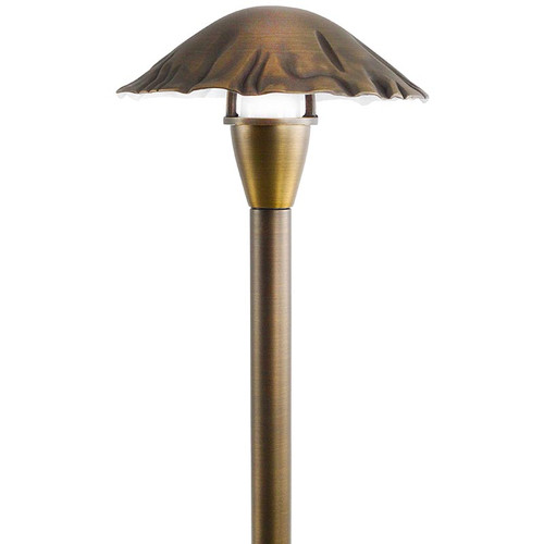 Cast Brass Mushroom Top Pathway Light - In Black or Bronze - PALD-SH23