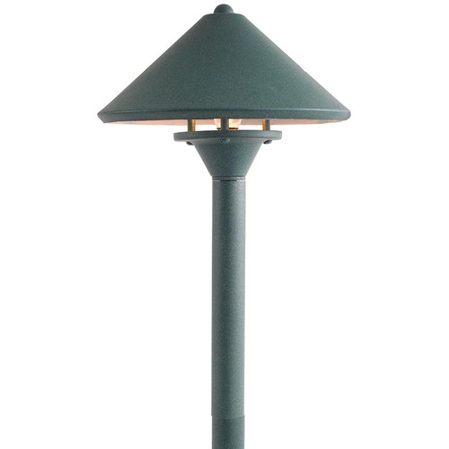 Mid Peak Brass Area Light - In Verdi - PA311