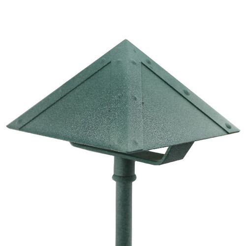 Pyramid Brass Area Light - In Verdi - PA003