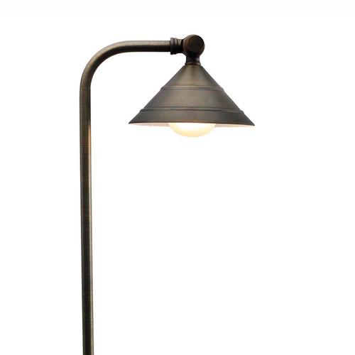 Circular Shade Brass Pathway Light - PPG031