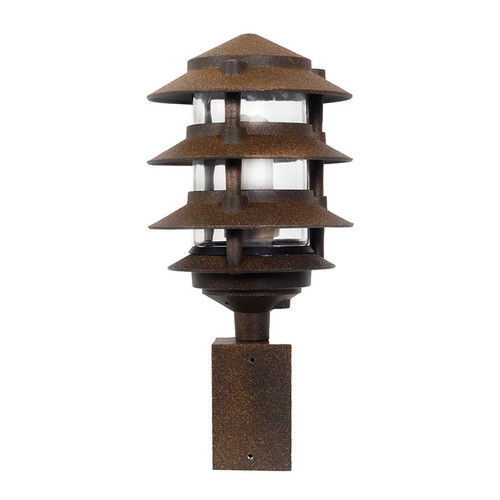 4 Tier Pagoda Fluorescent Area Light - In Rust - PA4TFL