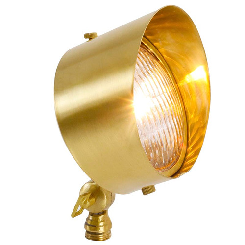 12V LED Heavy Brass Large Circular Landscape Floodlight - LE112