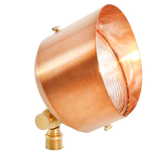 12V LED Large Raw Copper Open Face Floodlight LE113-RC
