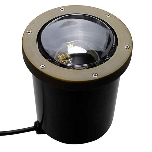 120v LED Composite In Ground Landscape Well Light w/ Open Face Cover - LEGAU999