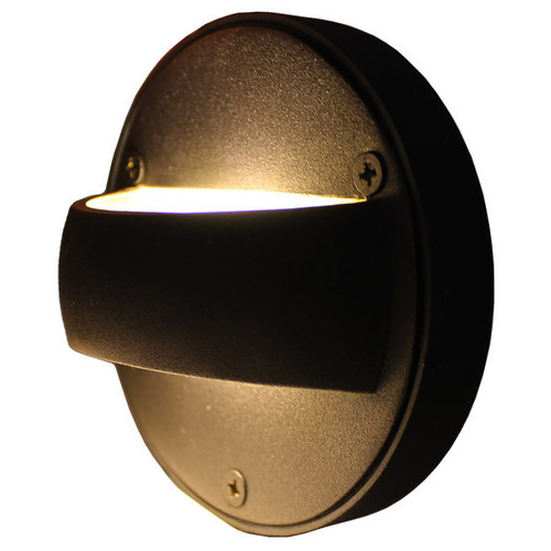 "LED 4"" Cast Brass Bi-Directional Step Light - DDLED4"