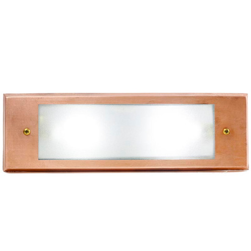 LED Raw Copper Recessed Rectangular Open Face Step Light PRLEDCOL
