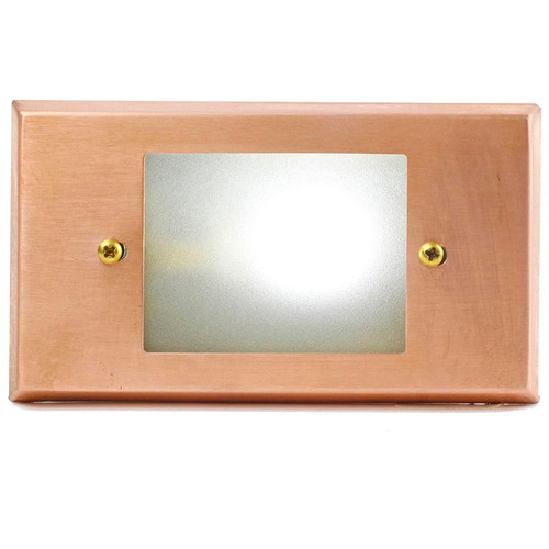 LED Raw Copper Open Face Recessed Step Light - PRLEDOC