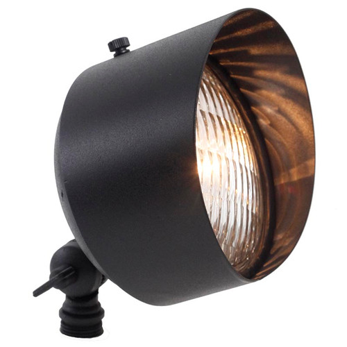 12V LED Large Circular Landscape Brass Flood Light - LES112