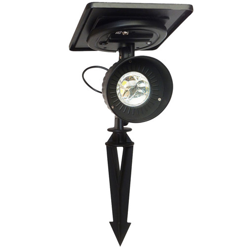 LED Solar Charged Cast Aluminum Accent Spotlight GS-103