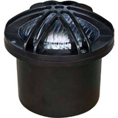 12V LED Adjustable In Ground Fiberglass Well Light w/ 6 Point Star Grill - LED-FG327 - DABMAR