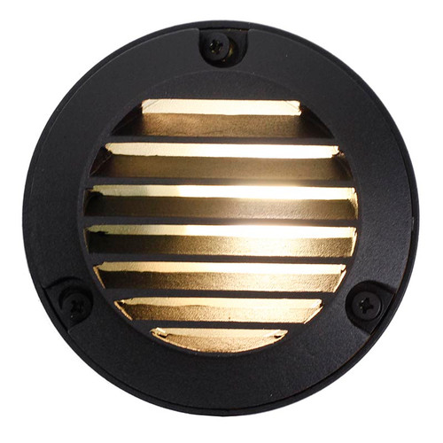"4"" LED Cast Brass Louver Step Deck Light - LEDBS426"