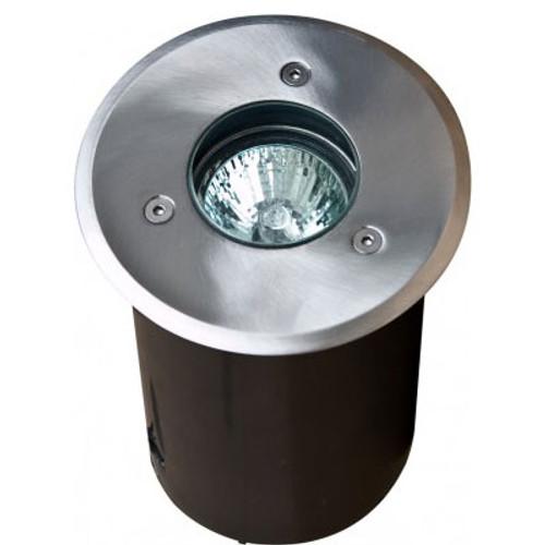 12V LED Stainless Steel Marine Grade 316 In Ground Well Light w/ PVC Sleeve - LED-LV311-SS316 - DABMAR
