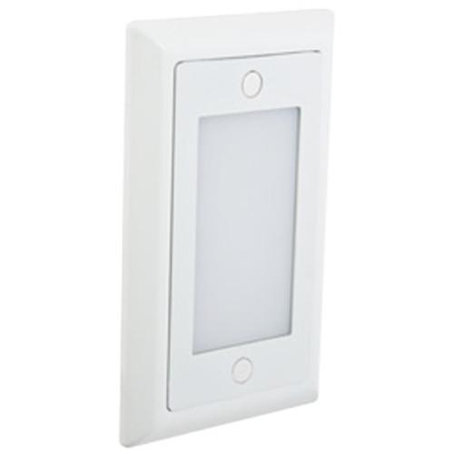 12V / 120V 1.5w LED Step Light w/ Smooth Open Faceplate - SGL