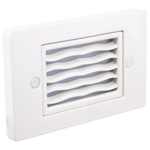 12V / 120V 1.5w LED Step Light w/ Horizontal Wave Louver Faceplate - SGL