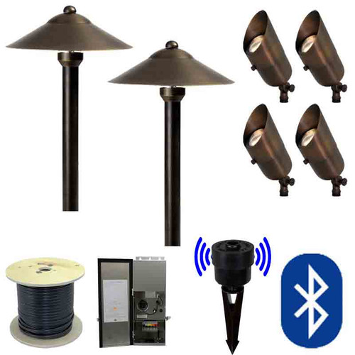 12V SMARTscape Bluetooth LED Landscape 4 Spotlight & 2 Pathway Combination Kit - SMRTSCP-KIT