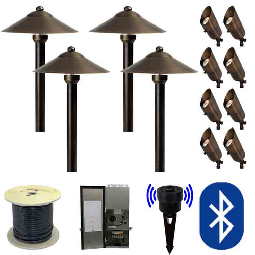 12V SMARTscape Bluetooth LED Landscape 8 Spotlight & 4 Pathway Hybrid Kit - SMRTSCP-KIT