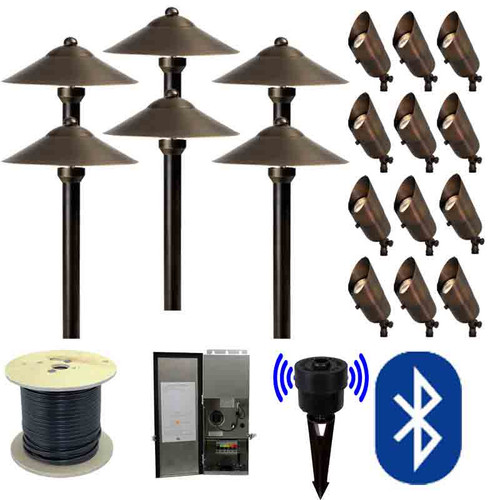 12V SMARTscape Bluetooth LED Landscape 12 Spotlight & 6 Pathway Combination Kit - SMRTSCP-KIT