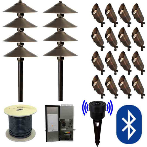 12V Bluetooth LED Landscape 8 Pathway & 16 Spotlight Combination Kit - SMRTSCP-KIT