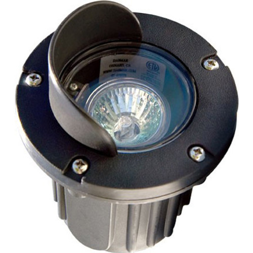 Adjustable MR16 In Ground Black Composite Well Light w/ Angle Hood - LV347 - DABMAR