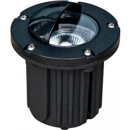 12V Adjustable MR16 In Ground Black Composite Well Light w/ Eyelid Hood -  LV344 - DABMAR