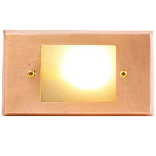 Raw Copper Open Face Recessed Step Light - PRGC-HS-DV